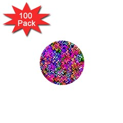 Swirly Twirly Colors 1  Mini Buttons (100 Pack)  by KirstenStar