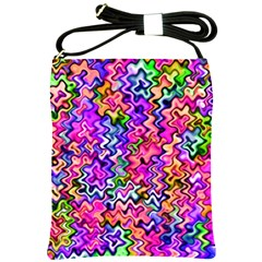 Swirly Twirly Colors Shoulder Sling Bags by KirstenStar