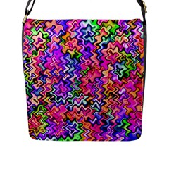 Swirly Twirly Colors Flap Messenger Bag (l)  by KirstenStar