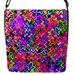 Swirly Twirly Colors Flap Messenger Bag (s) by KirstenStar