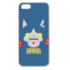 Robonyann Reverse Print Apple Seamless Iphone 5 Case (clear) by JibanyannYokai