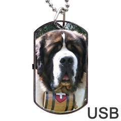 St Bernard Dog Tag USB Flash (One Side) by TailWags