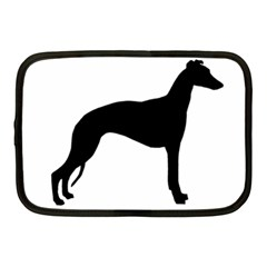 Whippet Silhouette Netbook Case (Medium)  by TailWags