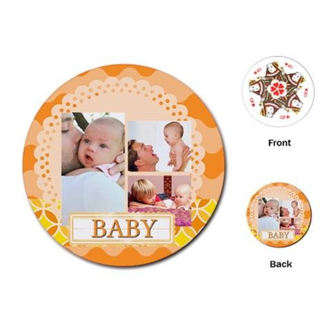 Baby By Baby   Playing Cards Single Design (round)   Ahahizlkfqw2   Www Artscow Com Front