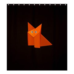 Dark Cute Origami Fox Shower Curtain 66  X 72  (large)