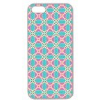 Cute Pretty Elegant Pattern Apple Seamless iPhone 5 Case (Clear) Front