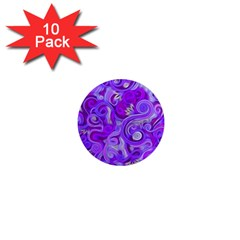 Lavender Swirls 1  Mini Magnet (10 Pack)  by KirstenStar