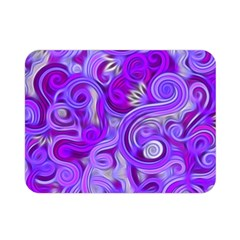 Lavender Swirls Double Sided Flano Blanket (mini)  by KirstenStar
