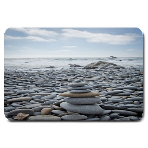 Gray Stacking Stones Zen Balance: Door Mat By Pamela Sue Goforth   Large Doormat   76k927vn7yt9   Www Artscow Com 30 x20 Door Mat - 1