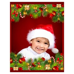 Christmas Draw String Bag Large By Deborah   Drawstring Bag (large)   Q0y5ylm3imx5   Www Artscow Com Front