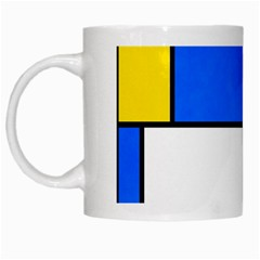 Colorful Rectangles White Mug by LalyLauraFLM
