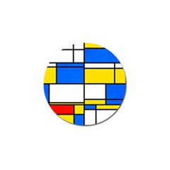 Colorful Rectangles Golf Ball Marker by LalyLauraFLM