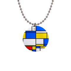 Colorful Rectangles 1  Button Necklace