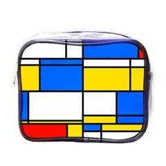 Colorful Rectangles Mini Toiletries Bag (one Side) by LalyLauraFLM