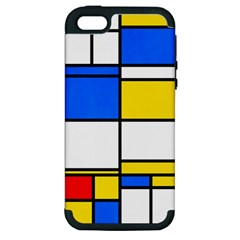 Colorful Rectangles Apple Iphone 5 Hardshell Case (pc+silicone) by LalyLauraFLM