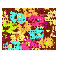Shapes In Retro Colors Jigsaw Puzzle (rectangular) by LalyLauraFLM