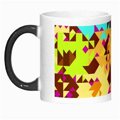 Shapes In Retro Colors Morph Mug by LalyLauraFLM