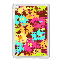 Shapes In Retro Colors Apple Ipad Mini Case (white) by LalyLauraFLM