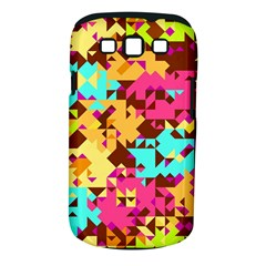 Shapes In Retro Colors Samsung Galaxy S Iii Classic Hardshell Case (pc+silicone) by LalyLauraFLM