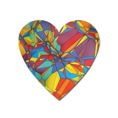 Colorful Miscellaneous Shapes Magnet (heart) by LalyLauraFLM