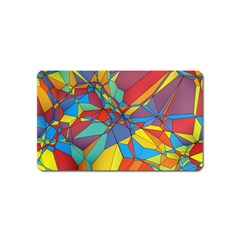 Colorful Miscellaneous Shapes Magnet (name Card) by LalyLauraFLM