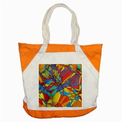 Colorful Miscellaneous Shapes Accent Tote Bag by LalyLauraFLM