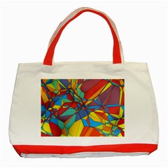 Colorful Miscellaneous Shapes Classic Tote Bag (red) by LalyLauraFLM