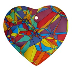 Colorful Miscellaneous Shapes Heart Ornament (two Sides) by LalyLauraFLM