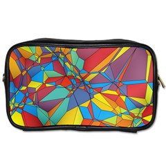 Colorful Miscellaneous Shapes Toiletries Bag (two Sides) by LalyLauraFLM