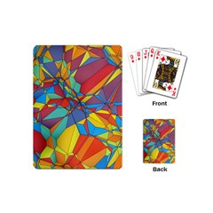 Colorful Miscellaneous Shapes Playing Cards (mini) by LalyLauraFLM