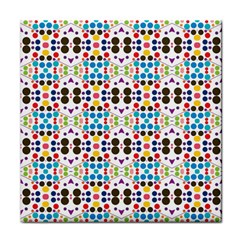 Colorful Dots Pattern Tile Coaster by LalyLauraFLM