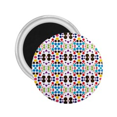 Colorful Dots Pattern 2 25  Magnet by LalyLauraFLM
