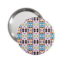 Colorful Dots Pattern 2 25  Handbag Mirror by LalyLauraFLM