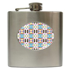 Colorful Dots Pattern Hip Flask (6 Oz) by LalyLauraFLM