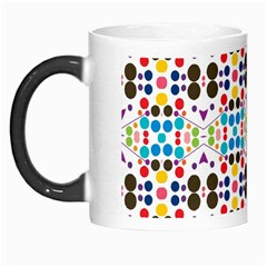 Colorful Dots Pattern Morph Mug by LalyLauraFLM