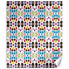 Colorful Dots Pattern Canvas 8  X 10  by LalyLauraFLM
