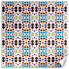 Colorful Dots Pattern Canvas 16  X 16  by LalyLauraFLM