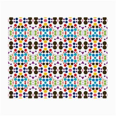 Colorful Dots Pattern Small Glasses Cloth (2 Sides) by LalyLauraFLM