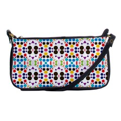 Colorful Dots Pattern Shoulder Clutch Bag by LalyLauraFLM