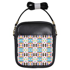 Colorful Dots Pattern Girls Sling Bag by LalyLauraFLM