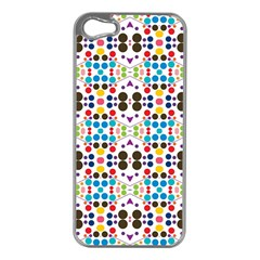 Colorful Dots Pattern Apple Iphone 5 Case (silver) by LalyLauraFLM