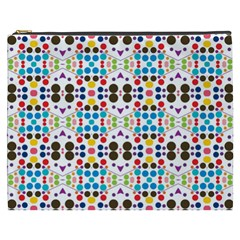 Colorful Dots Pattern Cosmetic Bag (xxxl) by LalyLauraFLM