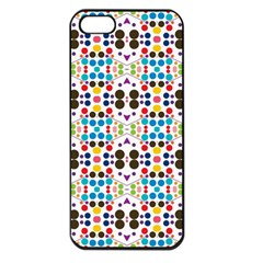 Colorful Dots Pattern Apple Iphone 5 Seamless Case (black) by LalyLauraFLM