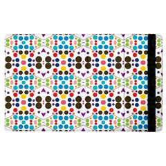 Colorful Dots Pattern Apple Ipad 2 Flip Case by LalyLauraFLM