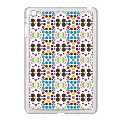 Colorful Dots Pattern Apple Ipad Mini Case (white) by LalyLauraFLM