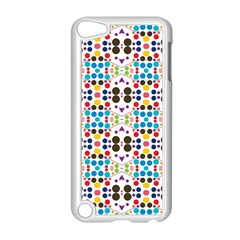 Colorful Dots Pattern Apple Ipod Touch 5 Case (white) by LalyLauraFLM