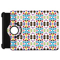 Colorful Dots Pattern Kindle Fire Hd Flip 360 Case by LalyLauraFLM