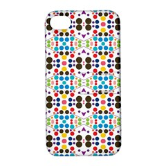 Colorful Dots Pattern Apple Iphone 4/4s Hardshell Case With Stand by LalyLauraFLM