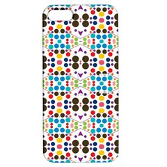 Colorful Dots Pattern Apple Iphone 5 Hardshell Case With Stand by LalyLauraFLM