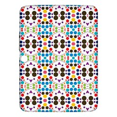 Colorful Dots Pattern Samsung Galaxy Tab 3 (10 1 ) P5200 Hardshell Case  by LalyLauraFLM